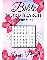 Bible Word Search: 80 Puzzles Book Game   Find more than 1,000 words of God that mean something to you   Large Print & Big Character   Gift for Friends & Family.
