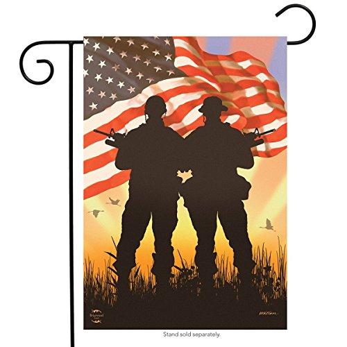 Briarwood Lane American Heroes Patriotic Garden Flag Military Troops 12.5