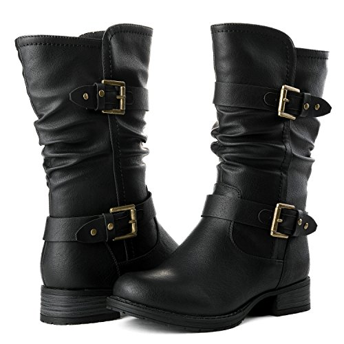 Global Win GLBALWIN Women's 17YY10 Black Fashion Boots (Ladies Black Fashion Boot)