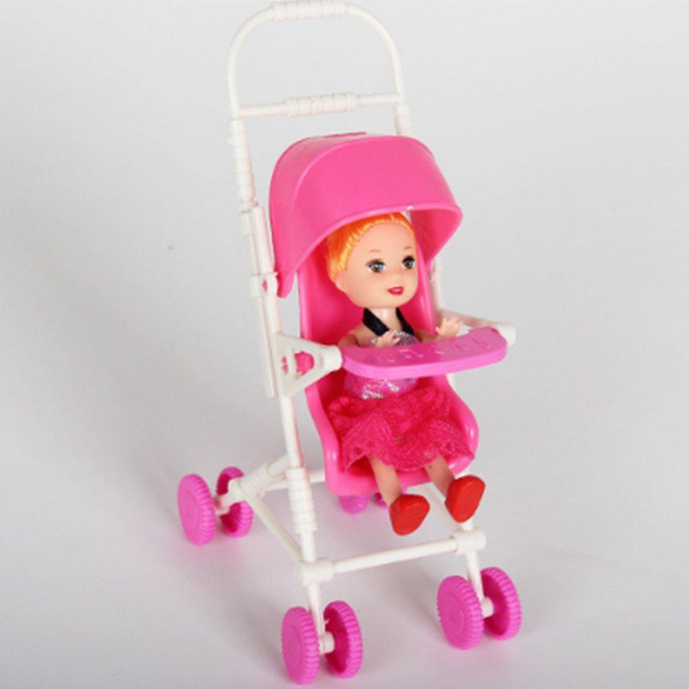 NiceButy Accessori per Bambole Set Accessori per Bambola casa Giocattolo con Passeggino per Bambole Walker Scooter per Bambole Barbie