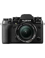 """Fujifilm X-T2 - Cámara sin espejo de óptica intercambiable de 24,3 MP (pantalla LCD de 3"""", APS-C""""X-Trans CMOS III"""", 100-51200, estabilizador tipo OIS, WiFi, video 4K)"""