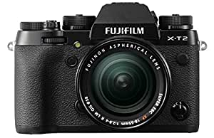 "Fujifilm X-T2 - Cámara sin espejo de 24,3 MP (pantalla LCD de 3"", APS-C""X-Trans CMOS III"", 100-51200, WiFi, video 4K), negro - kit con cuerpo y objetivo XF18-55mm F2.8-4 R LM OIS"