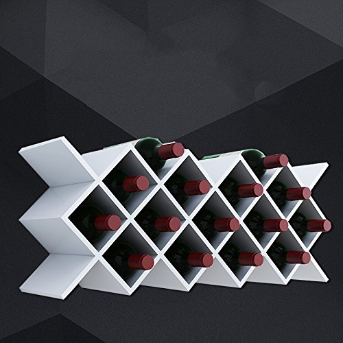 CXM-Decorative frame ALUS- Wine Lattice Diamond-shaped Wine Rack Wall Hanging Wine Grid Shelf Wall Shelves Simple Modern Wine Cabinet Wine Lattice (Size : B) (Lattice Rack)
