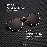 Polarized Sunglasses for Men and Women Semi-Rimless Frame Driving Sun glasses 100% UV Blocking
