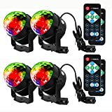 Litake Party Lights Disco Ball Strobe Light Disco Lights, 7 Colors Sound Activated with Remote Control Dj Lights Stage Light for Festival Bar Club Party Wedding Show Home-4 Pack
