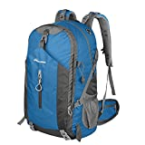 OutdoorMaster Hiking Backpack 50L - Weekend Pack w/ Waterproof Rain Cover & Laptop Compartment - for Camping, Travel, Hiking (Blue/Grey)