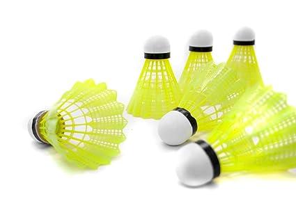 Xiaoyan Home Nylon Tools EU Badminton Shuttlecocks 3800/Green Cork Head Basket//6/UNITS