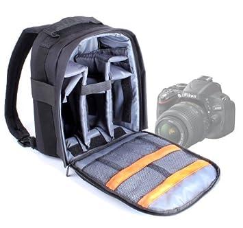 DURAGADGET Mochila De Nylon Para Cámara Réflex Nikon D5100 / D5000 /D500 + Funda Impermeable Fotografiar Bajo La Lluvia!: Amazon.es: Electrónica
