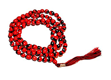 Ankita Gemstones Red Gunja Chirmi mala Rakat Gunja Mala Puja Articles at amazon