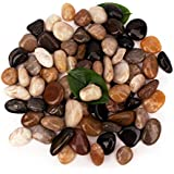 BLQH [18 Pounds] Pebbles Stones Aquarium Gravel River Rock,Natural Polished Decorative Gravel,Garden Ornamental Pebbles…