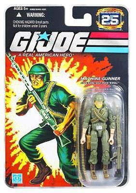 G I Joe Machine Gunner Código Nombre Sgt Rock N Roll