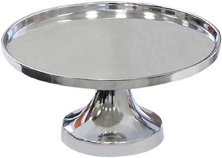 Casablanca - Plato Decorativo con pie (Aluminio Pulido, Redondo ...