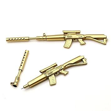 amazon rifle bulletペン ゴールドsniper rifle gun形状ゲルインク