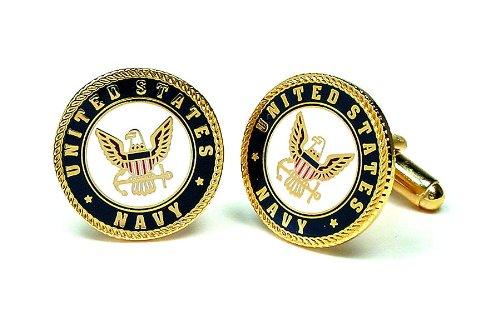 Greatest Amazon.com: Cufflinks Inc. Men's Us Navy Logo Cufflink, Gold/Navy  EI78
