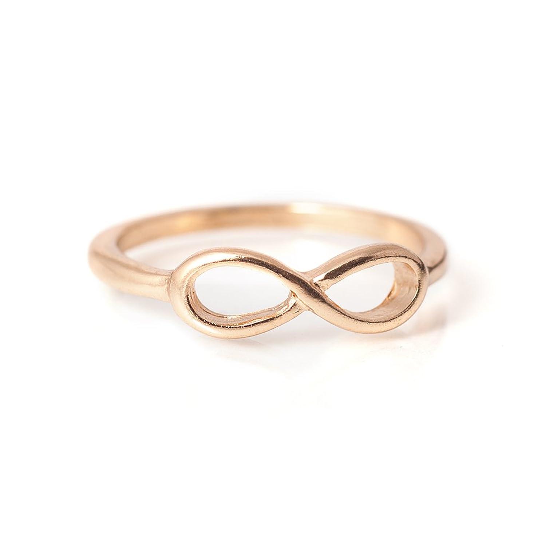 """Modeschmuck gold ring  Ring Modeschmuck """"Infinity"""" Farbe: Gold Ringgröße 53: Amazon.de ..."""