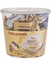 Toblerone Mixed Minis 1 x 904 g doos, fijne Zwitserse chocolade in drie soorten met honing en amandelnougaat