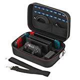 #8: Vikena Deluxe Travel and Storage Case for Nintendo Switch,Game Carrying Case fit for Switch Pro Controller,Switch Console and Accessories,Black