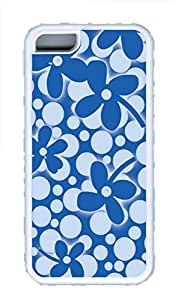 iPhone 5C Case, iPhone 5C Cases - Spring Festival Blue Polycarbonate Hard Case Back Cover for iPhone 5CšC White