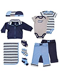 """Yoga Sprout Baby Boys' """"Zigzag"""" 12-Piece Layette Gift Set"""
