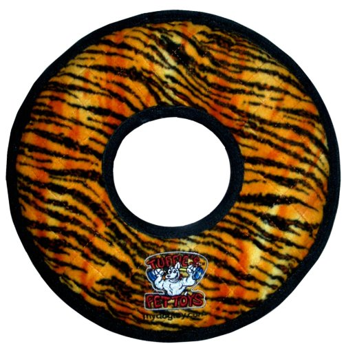 Tuffy's Mega Ring Dog Toy, Tiger Print, My Pet Supplies