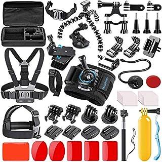 SmilePowo 42-in-1 Action Camera Accessorries Kit Mount for GoPro Hero 9 8 Max 7 6 5 4 3 3+ 2 1 Black GoPro 2018 Session Fusion Silver Insta360 DJI AKASO APEMAN YI Campark XIAOMI Action Camera