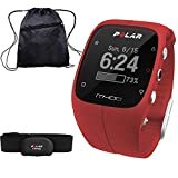 Polar M400 GPS Training Companion with Heart Rate and Cinch Bag - Red