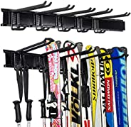 Ultrawall Ski Wall Rack, 5 Pairs of Snowboard Rack Wall Mount,Home and Garage Skiing Storage Mount Hold up to