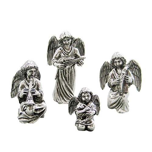 DANFORTH - Angels Pewter Nativity Set - Handcrafted - Gift Boxed - Made in USA