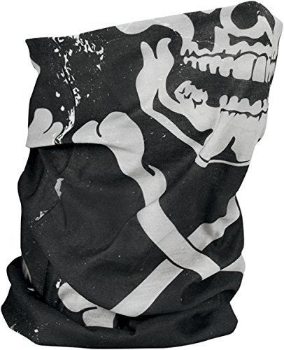 Zan Headgear Fleece Motley Tube , Gender: Mens/Unisex, Primary Color: White, Distinct Name: Skull and Crossbones, Size: OSFM TF227
