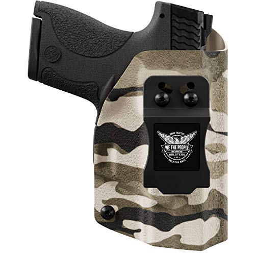 We The People - IWB Holster Compatible with Taser Pulse Gun - Inside Waistband Concealed Carry Kydex Holster (Right Hand, Tan Camo)