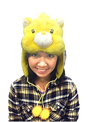 Adult Care Bears Funshine Bear Costumes (Care Bear Funshine Bear Yellow Kigurumi Cap)