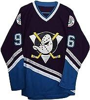 Men's Custom Conway #96 Movie Mighty Ducks Ice Hockey Jersey B