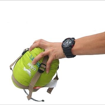 BUSL Primavera y verano delgado ventilador mini saco de dormir adulto al aire libre camping de