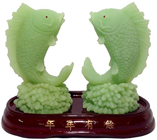 Double Fish Oriental - Jade Centerpiece