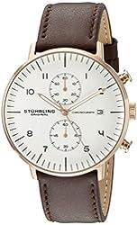 Stuhrling Original Men's 803.04 Monaco Analog Display Quartz Brown Watch