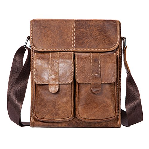 First Zhhlinyuan Lightweight Leather Brown Adjustable Mens Small Cowhide Phone Crossbody Mobile Shoulder Women Briefcase Bag Soft rYUYB