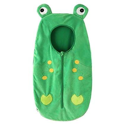 Wovemster Baby Cartoon Frog Pattern Resina Resistente al frío Saco de Dormir al Aire Libre,