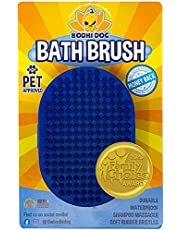 New Grooming Pet Shampoo Brush   Soothing Massage Rubber Bristles Curry Comb for Dogs & Cats Washing   Professional Quality