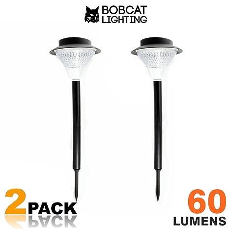 2 pack super bright solar path lights 60 lumens led solar