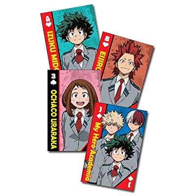 Great Eastern Entertainment My Hero Academia Class-1A Group School Uniforms Playing Cards: Toys & Games