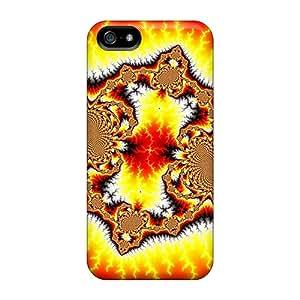 Tough Iphone Khi2361GUjl Case Cover/ Case For Iphone 5/5s(fire Fractal)