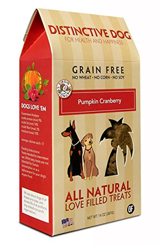 (Distinctive Dog Pumpkin Cranberry Crisp Dog Treats,)