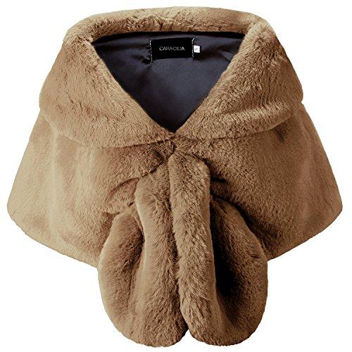 Caracilia Women Faux Fur Shawl Wrap Stole Shrug Winter Wedding Wrap tuose11 S CA95 by Caracilia