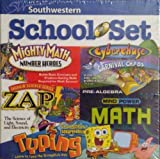 Southwestern School Set: Mighty Math Number Heroes, Cyberchase Carnival Chaos, Thinkin Science Series Zap!, Mind Power Math Pre-Algebra, Spongebob Squarepants Typing
