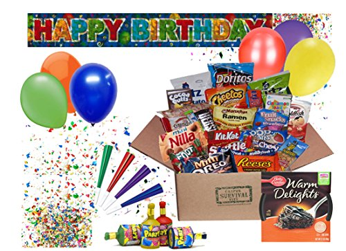 Happy Birthday Campus Survival Kit Care Package (Peanut-Free)