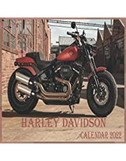 """Harley-Davidson CALENDAR 2022: Harley-Davidson calendar 2022 """"8.5x8.5"""" Inch 16 Months JAN 2022 TO APR 2023 finished and Glossy"""