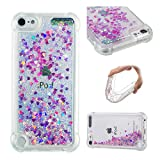 iPod Touch 7 / iPod Touch 6 / iPod Touch 5 Case, ZERMU Bling Luxury Quicksand Flowing Floating Luxury Glitter Waterfall Fusion Moving Liquid Sparkling TPU Bumper Protection Cover for iPod Touch 5/6/7