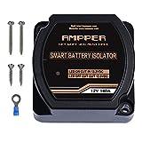 Ampper 12V 140Amp Dual Battery Isolator, Battery Voltage Sensitive Relay (VSR) Smart Battery Isolator for Car, Vehicle, RV, ATV, UTV and Boat
