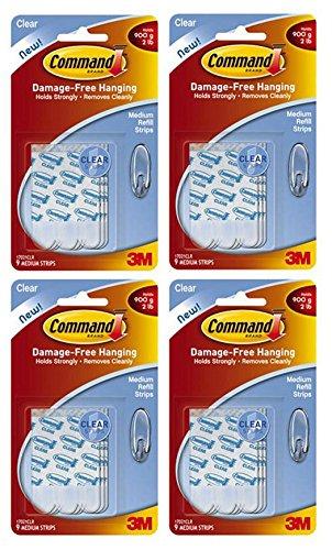 Command Refill Strips, Medium, White, 36-Strips