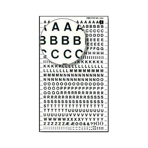 DDB1F 4 mm Blanc DECADRY Lettres Transferts 1 Feuille